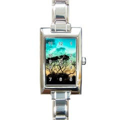 Trees Branches Branch Nature Rectangle Italian Charm Watch