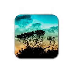 Trees Branches Branch Nature Rubber Coaster (square)