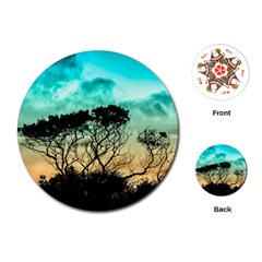 Trees Branches Branch Nature Playing Cards (round)