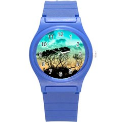 Trees Branches Branch Nature Round Plastic Sport Watch (s)