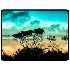 Trees Branches Branch Nature Double Sided Fleece Blanket (large)