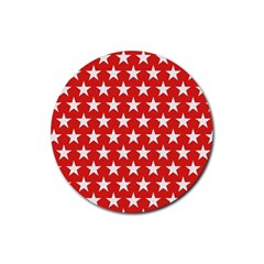 Star Christmas Advent Structure Rubber Coaster (round)