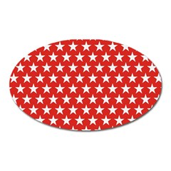 Star Christmas Advent Structure Oval Magnet