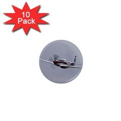 P 51 Mustang Flying 1  Mini Magnet (10 Pack)