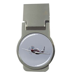 P 51 Mustang Flying Money Clips (round)