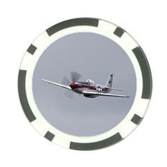 P 51 Mustang Flying Poker Chip Card Guard