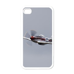 P 51 Mustang Flying Apple Iphone 4 Case (white)