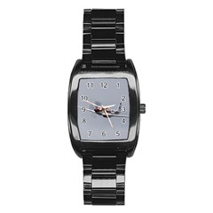 P 51 Mustang Flying Stainless Steel Barrel Watch