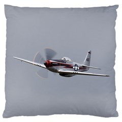 P 51 Mustang Flying Large Flano Cushion Case (two Sides)