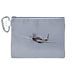 P 51 Mustang Flying Canvas Cosmetic Bag (xl)