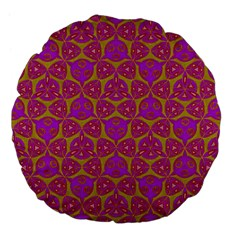 Sacred Geometry Hand Drawing Large 18  Premium Flano Round Cushions