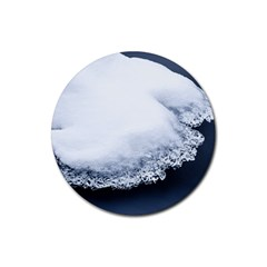 Ice, Snow And Moving Water Rubber Coaster (round)
