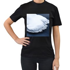 Ice, Snow And Moving Water Women s T Shirt (black) (two Sided)