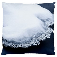 Ice, Snow And Moving Water Large Cushion Case (two Sides)