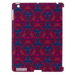 Bereket Red Blue Apple Ipad 3/4 Hardshell Case (compatible With Smart Cover)