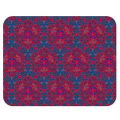 Bereket Red Blue Double Sided Flano Blanket (medium)