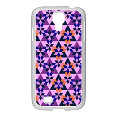 Crystal Shapes And Snowflake Samsung Galaxy S4 I9500/ I9505 Case (white)