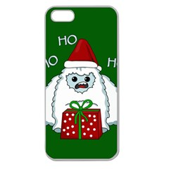 Yeti Xmas Apple Seamless Iphone 5 Case (clear)