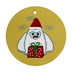 Yeti Xmas Ornament (round)