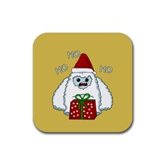 Yeti Xmas Rubber Coaster (square)