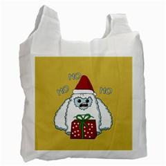 Yeti Xmas Recycle Bag (two Side)