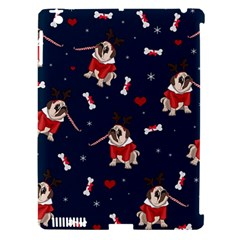 Pug Xmas Pattern Apple Ipad 3/4 Hardshell Case (compatible With Smart Cover)