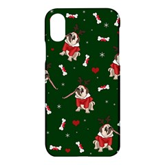 Pug Xmas Pattern Apple Iphone X Hardshell Case