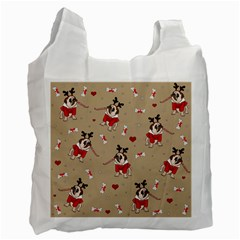 Pug Xmas Pattern Recycle Bag (two Side)