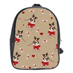 Pug Xmas Pattern School Bag (XL) Front