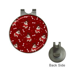 Pug Xmas Pattern Hat Clips With Golf Markers