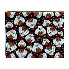 Yeti Xmas Pattern Cosmetic Bag (xl)