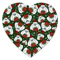 Yeti Xmas Pattern Jigsaw Puzzle (heart)