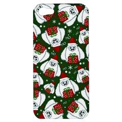 Yeti Xmas Pattern Apple Iphone 5 Hardshell Case