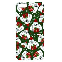 Yeti Xmas Pattern Apple Iphone 5 Hardshell Case With Stand