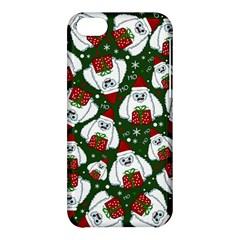 Yeti Xmas Pattern Apple Iphone 5c Hardshell Case
