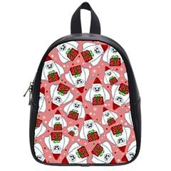 Yeti Xmas Pattern School Bag (small)
