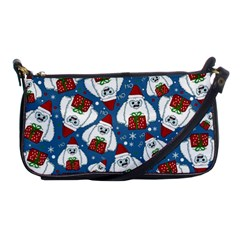 Yeti Xmas Pattern Shoulder Clutch Bags