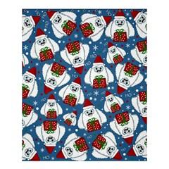 Yeti Xmas Pattern Shower Curtain 60  X 72  (medium)