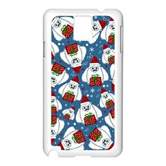 Yeti Xmas Pattern Samsung Galaxy Note 3 N9005 Case (white)