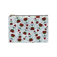 Yeti Xmas Pattern Cosmetic Bag (medium)