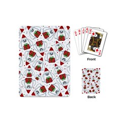 Yeti Xmas Pattern Playing Cards (mini)