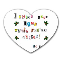 Santa s Note Heart Mousepads