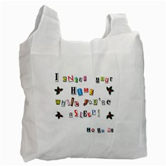 Santa s Note Recycle Bag (one Side)