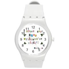 Santa s Note Round Plastic Sport Watch (m)