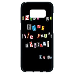 Santa s Note Samsung Galaxy S8 Black Seamless Case