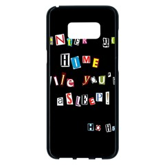 Santa s Note Samsung Galaxy S8 Plus Black Seamless Case