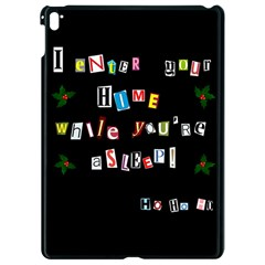 Santa s Note Apple Ipad Pro 9 7   Black Seamless Case