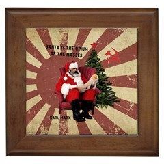 Karl Marx Santa  Framed Tiles