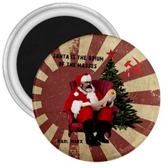 Karl Marx Santa  3  Magnets
