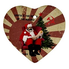 Karl Marx Santa  Ornament (heart)